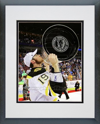 """Tyler Seguin Boston Bruins 2011 NHL Stanley Cup Finals """"With the Stanley Cup"""" (#49) Double Matted 8"""" X 10"""