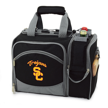 "USC Trojans ""Malibu"" Insulated Picnic Tote / Shoulder Pack with Screen Printed Logo"