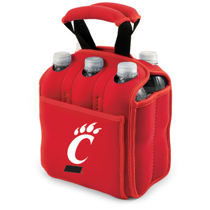 """Cincinnati Bearcats Red """"Six Pack"""" Insulated Cooler Tote with Screen Printed Logo"""
