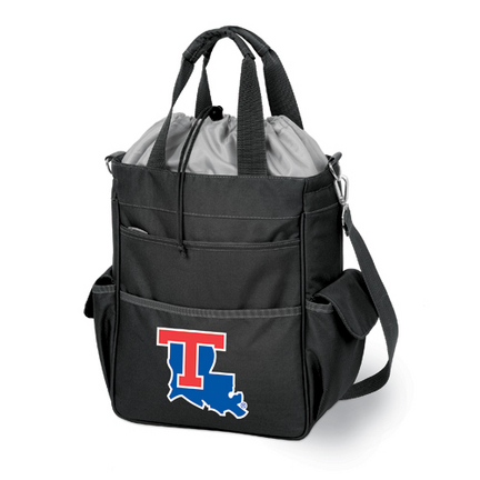 "Louisiana Tech Bulldogs Black ""Activo"" Waterproof Tote with Screen Printed Logo"
