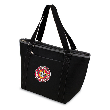 """Louisiana (Lafayette) Ragin' Cajuns Black """"""""Topanga"""""""" Insulated Cooler Tote with Embroidered Logo"""" PIT-619-00-175-282"""