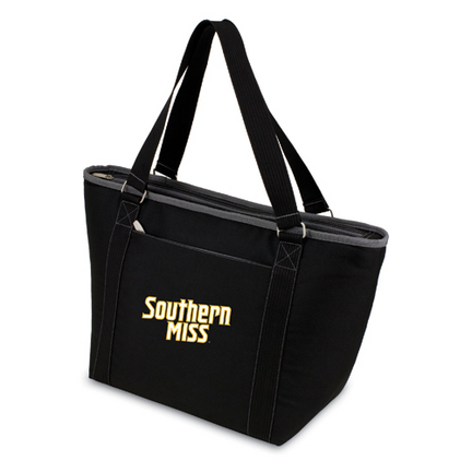 "Southern Mississippi Golden Eagles Black """"Topanga"""" Insulated Cooler Tote with Embroidered Logo"" PIT-619-00-175-742"