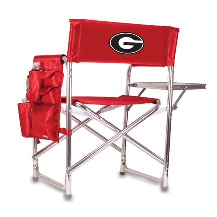 Georgia Bulldogs Red Sports Chair with Screen Printed Logo