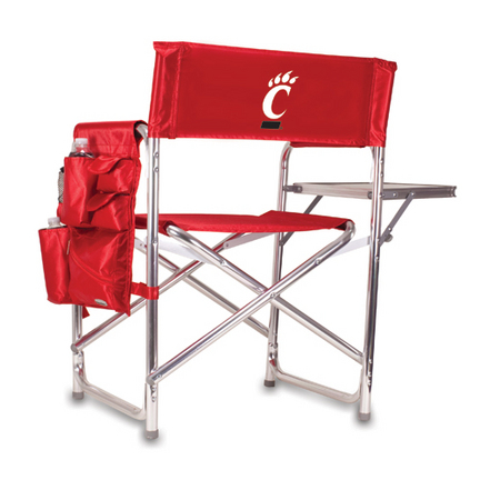 Cincinnati Bearcats Red Sports Chair with Screen Printed Logo