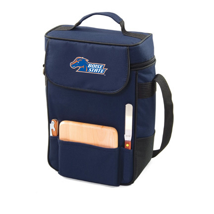 """Boise State Broncos """"Duet"""" Wine and Cheese Tote with Screen Printed Logo"""