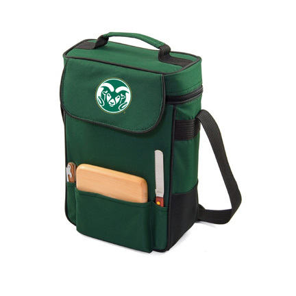 "Colorado State Rams ""Duet"" Wine and Cheese Tote with Screen Printed Logo"