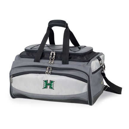 Hawaii Rainbow Warriors Tote with Cooler, 3-Piece BBQ Set and Grill