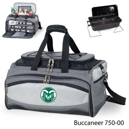 Colorado State Rams Tote with Cooler, 3-Piece BBQ Set and Grill