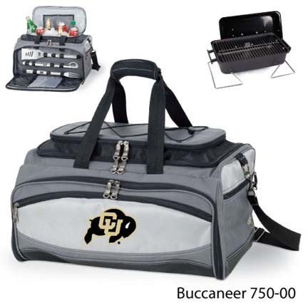Colorado Buffaloes Tote with Cooler, 3-Piece BBQ Set and Grill