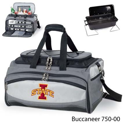 Iowa State Cyclones Tote with Cooler, 3-Piece BBQ Set and Grill