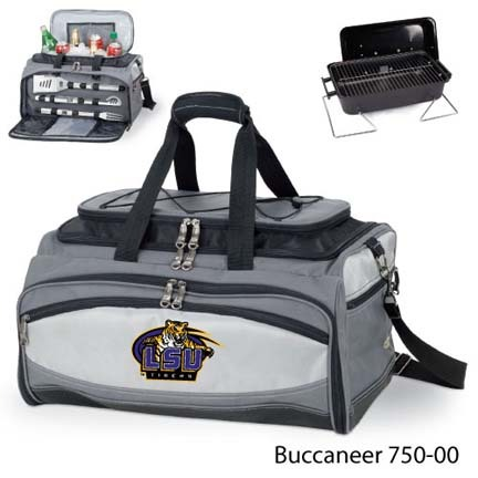Louisiana State (LSU) Tigers Tote with Cooler, 3-Piece BBQ Set and Grill