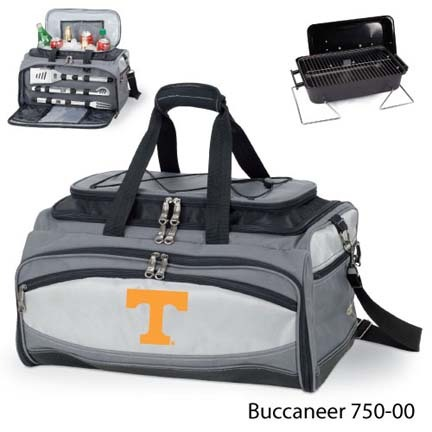Tennessee Volunteers Tote with Cooler, 3-Piece BBQ Set and Grill