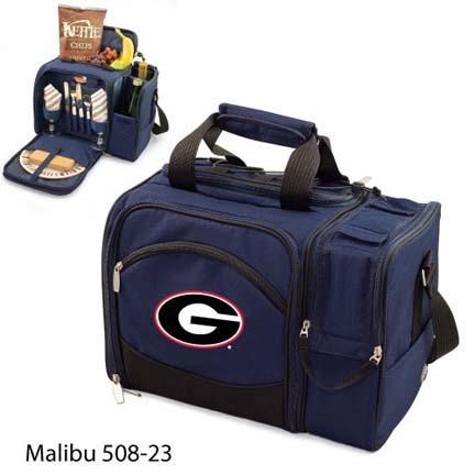 "Georgia Bulldogs ""Malibu"" Insulated Picnic Tote / Shoulder Pack with Screen Printed Logo"