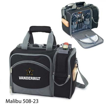 "Vanderbilt Commodores ""Malibu"" Insulated Picnic Tote / Shoulder Pack with Screen Printed Logo"