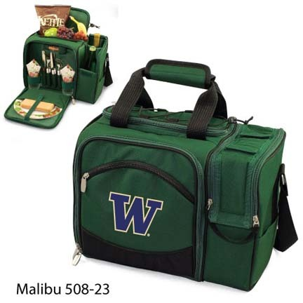 "Washington Huskies ""Malibu"" Insulated Picnic Tote / Shoulder Pack with Screen Printed Logo"