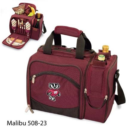 "Wisconsin Badgers ""Malibu"" Insulated Picnic Tote / Shoulder Pack with Screen Printed Logo"