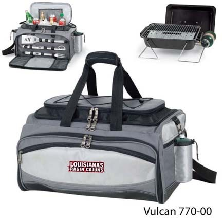 Louisiana (Lafayette) Ragin' Cajuns Cooler Tote with 3-Piece BBQ Tool Set and Propane Grill PIT-770-00-175-284