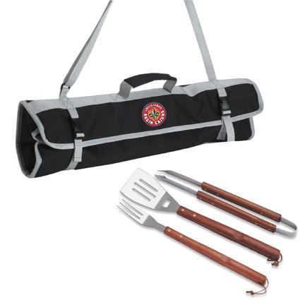 Louisiana (Lafayette) Ragin' Cajuns 3 Piece Wooden Handle BBQ Utensil Set with Tote PIT-749-03-175-284