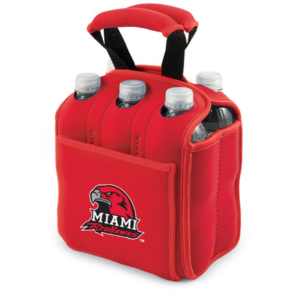 "Miami (Ohio) RedHawks ""Six Pack"" Insulated Cooler Tote with Screen Printed Logo"