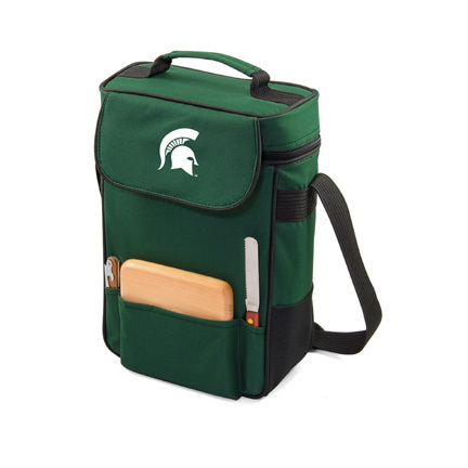 """Michigan State Spartans """"Duet"""" Wine and Cheese Tote with Screen Printed Logo"""