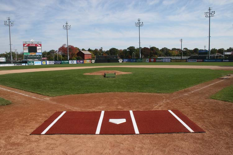 ProMounds 12' x 7' Clay Colored Turf Softball Batting Mat Pro (Lined)