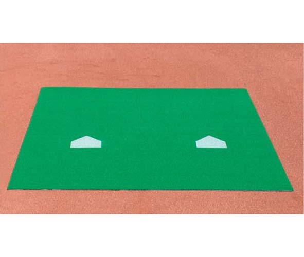 ProMounds 12'x12' Bull Pen Mat with 2 Throw Down Home Plates PM-AT5030