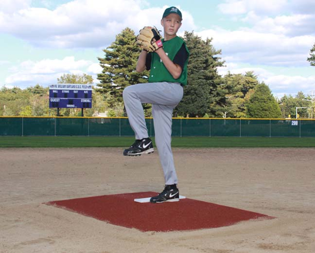 """ProMounds Little League Pitching Game Mound - """"Bronco Style"""" in Clay colored Turf"""
