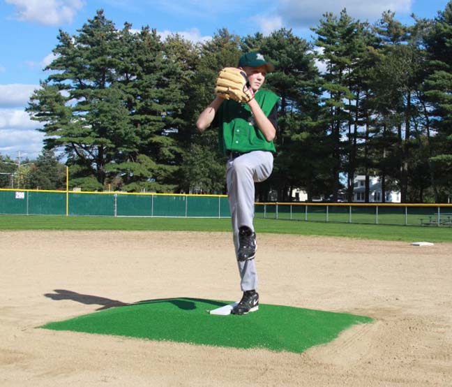 """ProMounds Little League Pitching Game Mound - """"Minor League Style"""" in Green Turf"""