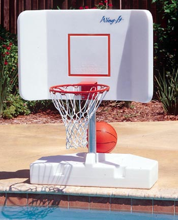 Wing it water basketball hoop game for inground swimming - Basketball goal for swimming pool ...