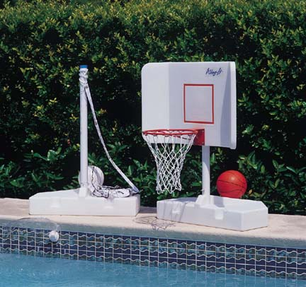 Spike and Splash Water Volleyball-Basketball System Game Combo by Pool Shot