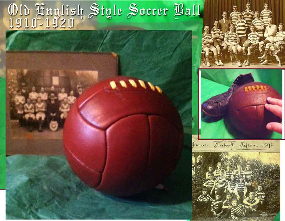 1920 World Cup Leather Soccer Ball PT-1920WORLDCUPBALL