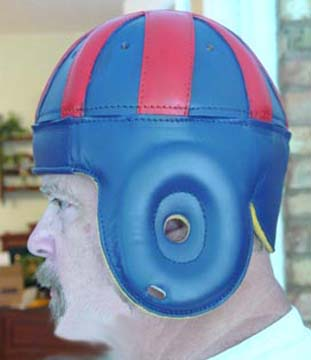 1940 Old New York Giants Blue and Red Leather Football Helmet