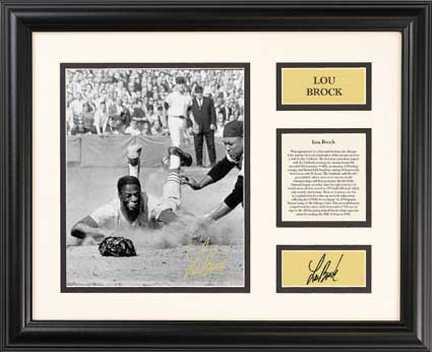 "Lou Brock ""Century Series"" 16"" x 13"" Framed Photograph (14KA-D9Q)"