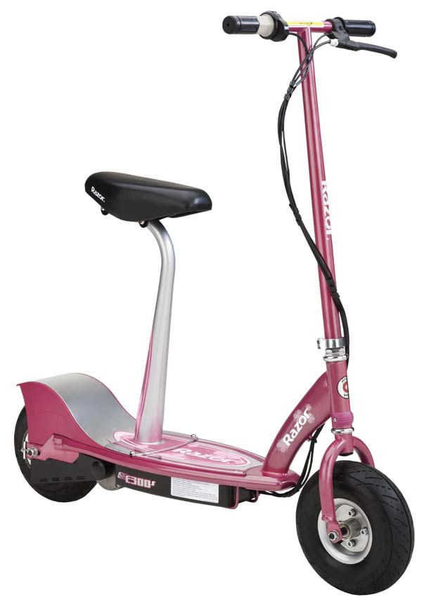 Razor® E300S Seated Electric Scooter (Sweet Pea Pink)