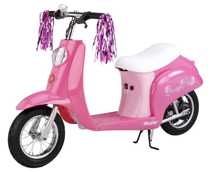 "Razor® Pocket Mod ""Sweet Pea"" Vintage Moped Style Electric Scooter (Pink)"