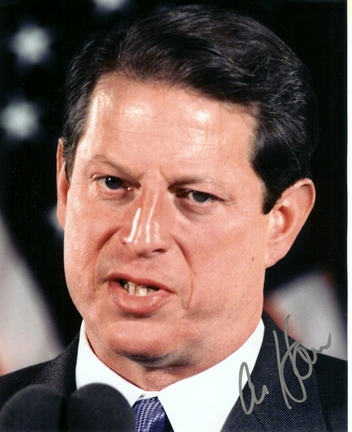 """Al Gore Autographed 8"""" x 10"""" Photograph (Unframed)"""