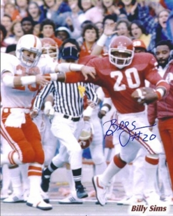 "Billy Simms Autographed Oklahoma Sooners 8"" x 10"" Photograph 1980 Heisman Trophy Winner (Unframed)"