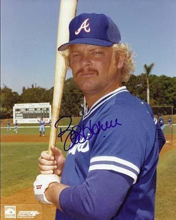 "Bob Horner Autographed Atlanta Braves 8"" x 10"" Photograph (Unframed)"