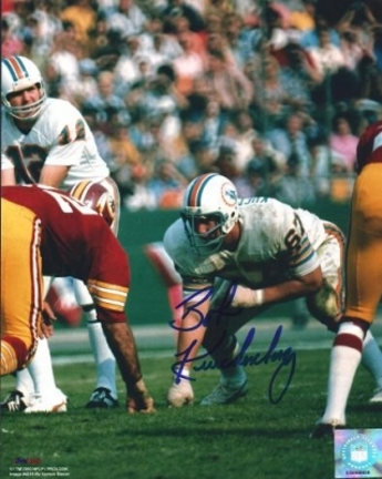 "Bob Kuechenberg Autographed Miami Dolphins 8"" x 10"" Photograph (Unframed)"