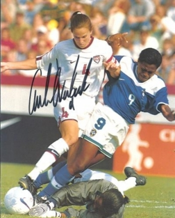 """Carla Overbeck Autographed Soccer 8"""" x 10"""" Photograph (Unframed)"""