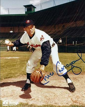"Chico Carrasquel Autographed Cleveland Indians 8"" x 10"" Photograph (Deceased) (Unframed)"