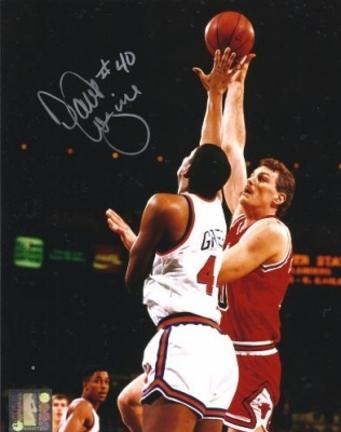"Dave Corzine Autographed Chicago Bulls 8"" x 10"" Photograph (Unframed)"