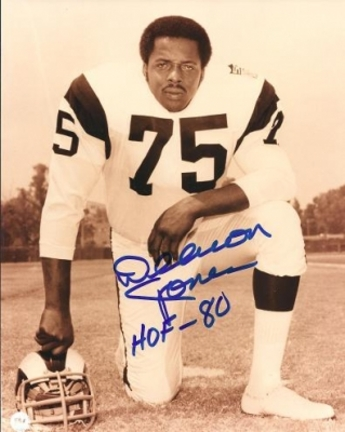 "Deacon Jones Autographed Los Angeles Rams 8"" x 10"" Photograph Hall of Famer (Unframed)"