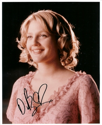 "Drew Barrymore Autographed 8"" x 10"" Photograph (Unframed)"