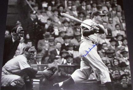 """Duke Snider """"At Bat"""" Autographed Brooklyn Dodgers 16"""" x 20"""" Photograph Two Time World Series Champio"""