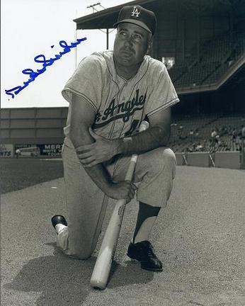 "Duke Snider ""Posing"" Autographed Brooklyn Dodgers 8"" x 10"" Photograph 2x World Series Champion (Unfr"