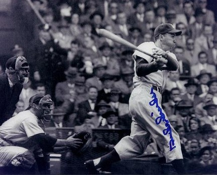 """Duke Snider """"Action Swinging"""" Autographed Brooklyn Dodgers 8"""" x 10"""" Photograph 2x World Series Champ"""