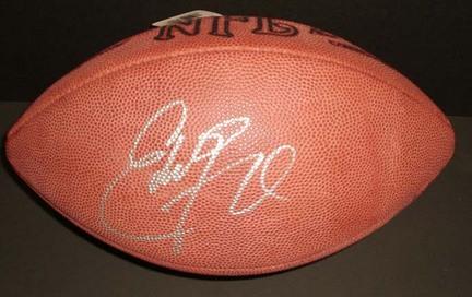 Eddie George Autographed NFL Game Model Football Titans/ Oilers