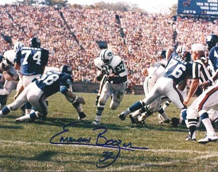 """Emerson Boozer Autographed New York Jets 8"""" x 10"""" Photograph (Unframed)"""