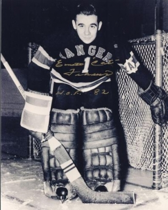"""Emile Francis Autographed New York Rangers 8"""" x 10"""" Photograph Hall of Famer (Unframed)"""